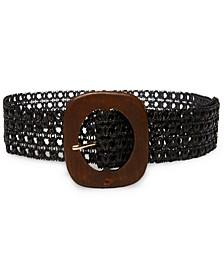 Wooden Buckle Woven Belt