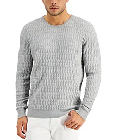 Men's Grid Knit Novelty Sweater, Created for Macy's