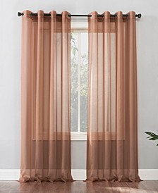 """Sheer Voile Grommet Curtain Panel, 95"""" L x 59"""" W"""