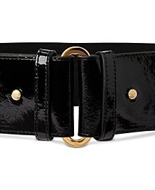 Stretch Patent Leather Belt