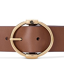 Brown Wide Leather Equestrian Belt