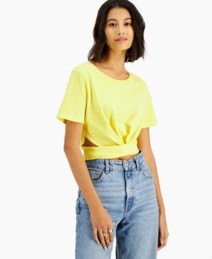 Side-Scrunch Cutout T-Shirt