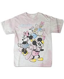 Juniors' Tie-Dye Mickey Cotton T-Shirt