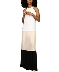 Colorblocked Maxi Dress, in Regular and Petite Sizes