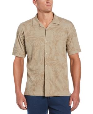 Men's Floral-Print Camp Shirt