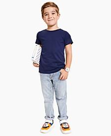 Toddler Boys Solid Basic T-shirt
