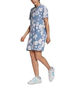 Women's Cotton Floral-Print Dress