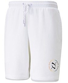 "Men's Pride Regular-Fit Logo-Print 8"" French Terry Shorts"