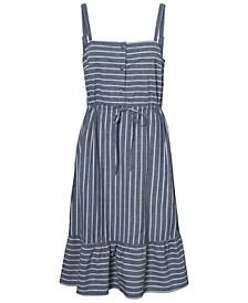 Plus Size Chambray Curve Strap Dress