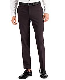 Men's Slim-Fit Purple Plaid Suit Pants, Created for Macy's