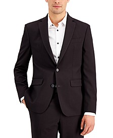 INC Men's Slim-Fit Burgundy Solid Suit Jacket, Created for Macy's