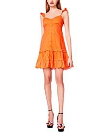 Cotton Eyelet-Trim Dress