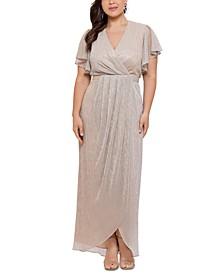 Plus Size Metallic Gown