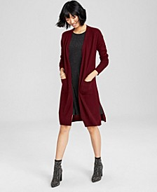 Cashmere Maxi Duster Cardigan, In Regular and Petites, Created for Macy's