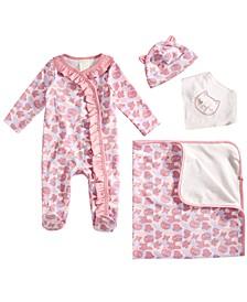 Baby Girls 4-Pc. Cat Camo Gift Set, Created for Macy's