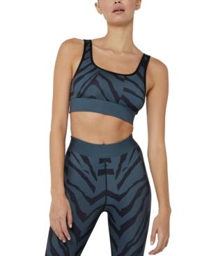Women's Wild Zebra Medium-Impact Sports Bra