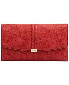 Modern Leather Checkbook Wallet