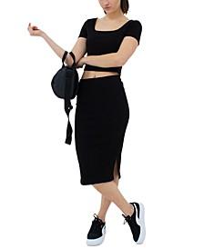 Classics Ribbed Midi Skirt