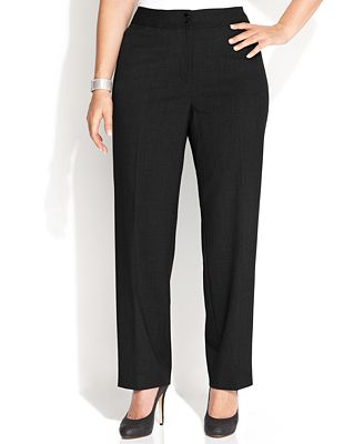 Calvin Klein Plus Size Wide-Leg Dress Pants - Wear to Work - Women ...
