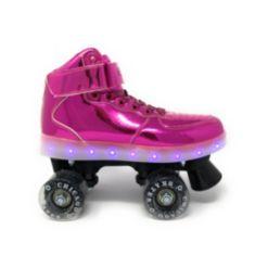 Chicago Pulse Led Light Up Quad Roller Skates, Pink - Size 4