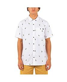 Men's Organic Windansea Short Sleeves Button Up Shirt