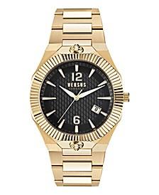 Versus Men's Echo Park Gold-Tone Stainless Steel Bracelet Watch 42 x 47mm