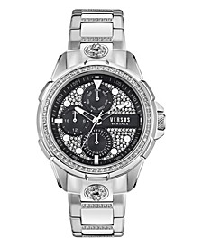 Versus Men's 6E Arrondissement Silver-Tone Stainless Steel Bracelet Watch 46mm