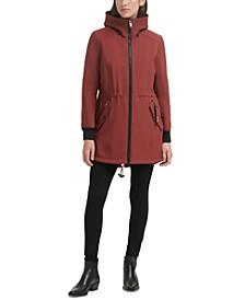 Fleece-Lined Hooded Raincoat