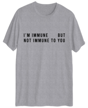 Men's I'm Immune But Not To You Short Sleeve Graphic T-shirt