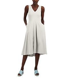 Petite V-Neck Midi Dress, Created for Macy's