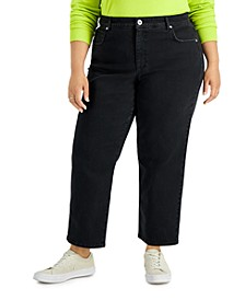 Plus Size High-Rise Mom Jeans, Created for Macy's