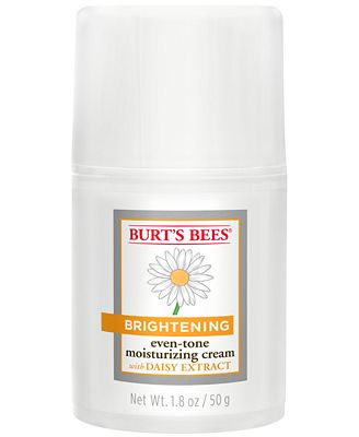 Create a brighter, more luminous complexion while diminishing the appearance of dark spots and discoloration with Burt's Bees Brightening Moisturizing Cream.