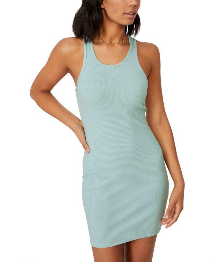 COTTON ON Women's Eva Racer Mini Dress & Reviews - Dresses - Juniors - Macy's