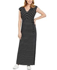 Striped Maxi Maternity Dress