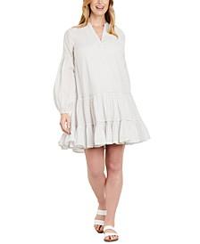 Cotton Striped Maternity Dress