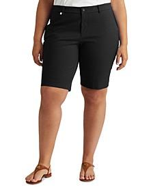 Plus-Size Stretch Cotton Shorts