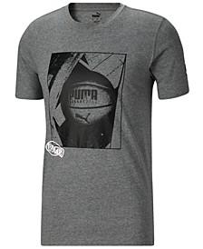 Men's Photorealistic Logo Graphic Basketball T-Shirt