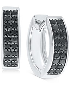 Black Diamond Extra Small Hoop Earrings (1/3 ct. t.w.) in 10k White Gold (Also in White Diamonds)
