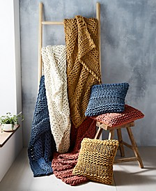 Chunky Knit Throws & Decorative Pillows, Created for Macy's