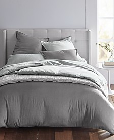 Cotton Tencel Blend Reversible Duvet Cover Sets, Created for Macy's