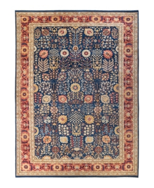 """Adorn Hand Woven Rugs Eclectic M1604 12'1"""" X 17'4"""" Area Rug In Navy"""