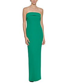 Strapless Fold-Over Gown