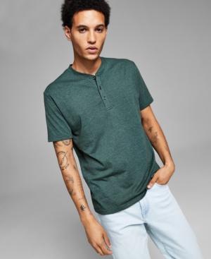 Men's Short Sleeve Henley T-Shirt