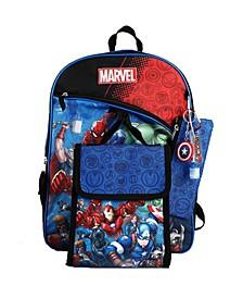 Kids Avengers 6 Piece Backpack Set