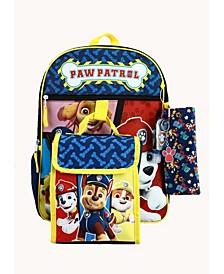 Kids Paw Patrol 6 Piece Backpack Set