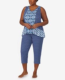 Plus Size Sleeveless Pajama Set