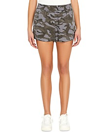 Printed Pull-On Twill Shorts