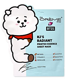 BT21 RJ's Radiant Printed Essence Sheet Mask, 3-Pk.