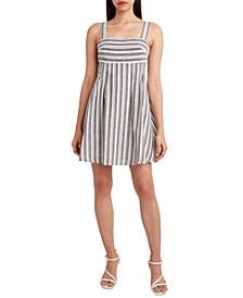 Striped Tie-Back Dress