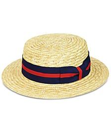 Men's Boater Straw Hat